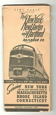 Railroad Time Table  New York New Haven & Hartford Rr Co  1947   47 Pages