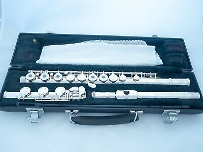 Yamaha YFL-385 II Intermediate Flute Silver Head *Japan Made *Cleaned & Serviced