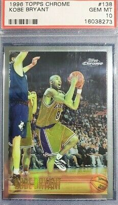 1996 Topps Chrome Kobe Bryant #138 Rookie RC PSA 10 Lakers - Investment Card