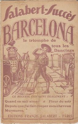 Recueil Salabert   Barcelona    Partitions Musicales
