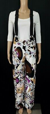 EMILIO PUCCI X ROSSIGNOL INES Printed Ski High-Rise Pant w/ Removable Straps S