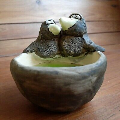 Vintage Wild Earth Studio Ceramic Pottery Birds