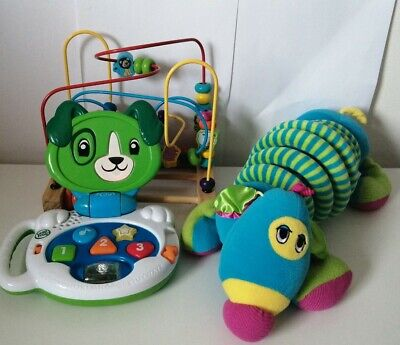 LeapFrog My Talking LapPup Scout Laptop Learning Toy Bundle Baby Toddler Sensory