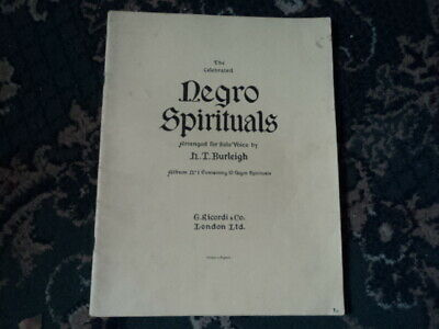"""Sheet Music - """"Negro Spirituals"""" - Arranged For Solo Voice By H.t.burleigh"""