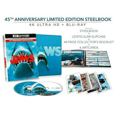 JAWS:45th Anniversary Limited Edition 4k Steelbook Blu-Ray (Collector's Edition)
