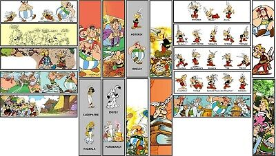 Lot BD20 - 20 Marque-pages (illustrations Tintin asterix)