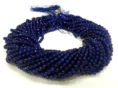 """10 Strand Blue Chalcedony Round Faceted 4-4.5mm 13""""inch Gemstone Loose Beads BR1"""