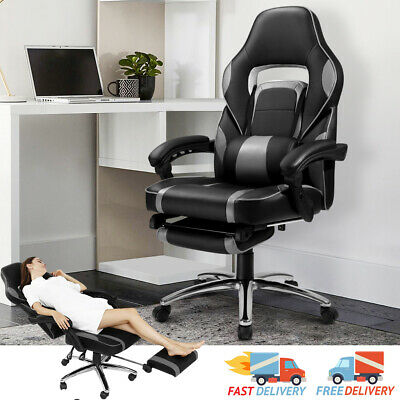 Executive Racing Gaming Computer Home Office Chair Leather Swivel Recliner Chair