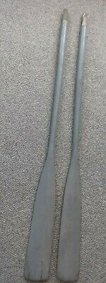"""Vintage Wooden Boat Oars Great Old Grey Color 72"""" Free Shipping""""!!!"""