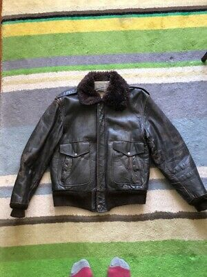 SCHOTT style I-S-674 Leather Flying Jacket, Brown leather. Size M