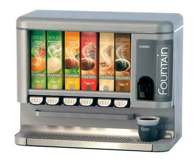 Fountain Classic 6 Server Cartridge Hot Drinks Vending Machine with 6 cartridges