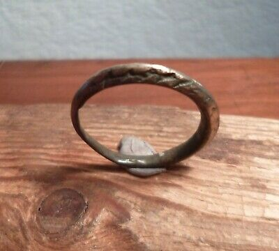 Stunning Viking Bronze Ring-Twisted Rope Effect-Metal Detecting Find