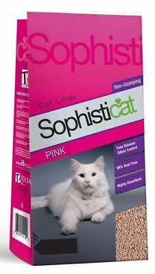 Sophisticat Pink Non-Clumping Litter 8 Litres OOD Damaged Bag