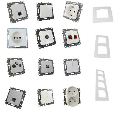 Schuko Outlet Breaker Frame Button Light Switch RJ45 Legrand Your Choice