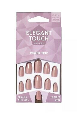 Elegant Touch - Colour Nails - Power Trip - Shimmer Dusky Rose - Oval