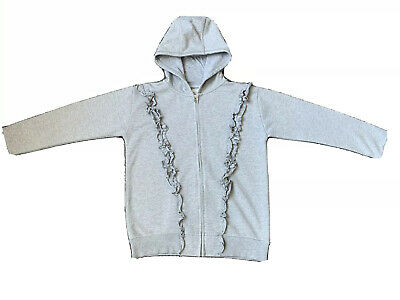 Girls Grey Glittery Next Zip Up Hoodie - Size 14 Years