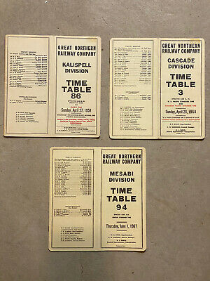 Great Northern Railway Timetables
