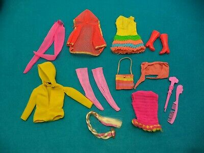 Mod Barbie & Friends Clothing & Accessory Lot - Mixed Good to TLC Read Lot 42
