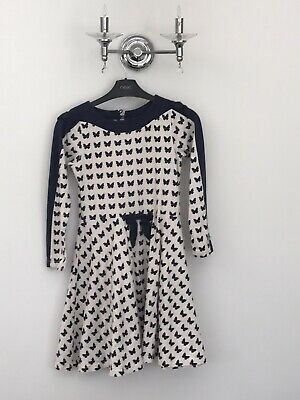 Gorgeous Jersey Butterfly Dress By Deux Pas Deux 10 Years Vgc