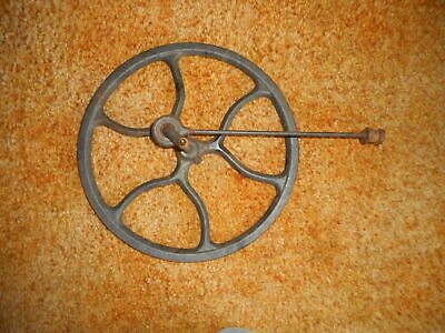 Vintage Singer Treadle Sewing Machine Fly Wheel  With Pitman Arm