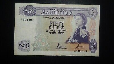 Mauritius 50 Rupees ND Rare Note