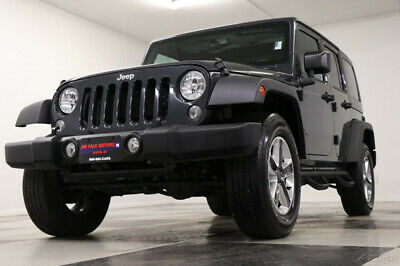 2016 Jeep Wrangler 4X4 Rubicon Unlimited Rhino Gray 4WD SUV Used Like New Bluetooth Low Miles Hard Soft Top Power Options 16 17 18 2017
