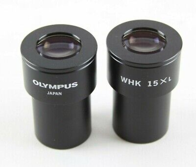 PAIR OF OLYMPUS WHK 15X L EYEPIECES 23mm ø