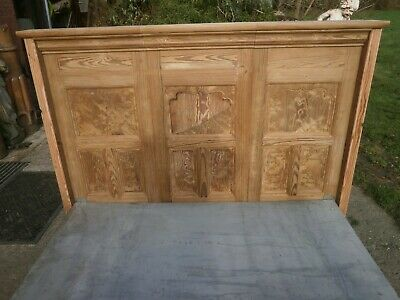 Antique pitch pine double bed