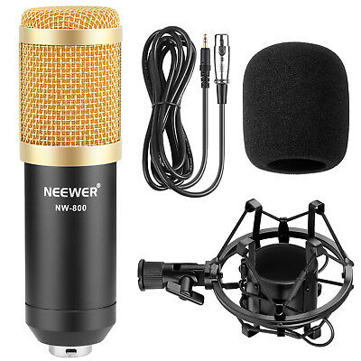 Neewer NW800 BlACK Studio Condenser Microphone +Shock Mount +Wind Shield NW-800