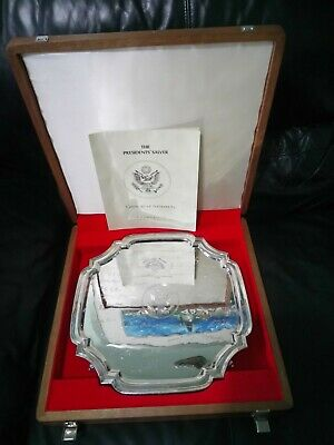 POTUS HISTORY: US Presidents signed solid silver salver -  JFK & Co