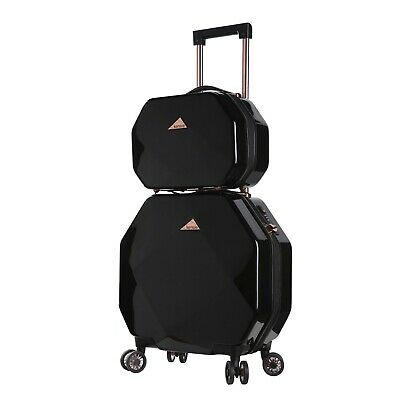 2 PC kensie Gemstone / Octagon luggage set Black