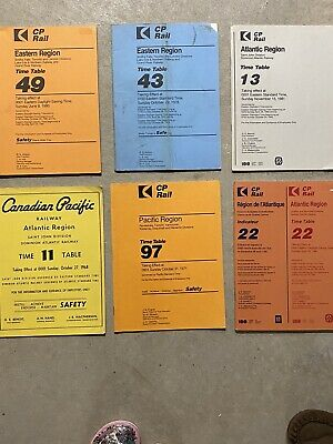 Canadian Pacific Railroad Timetable Lot