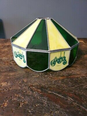 Vintage John Deere Stained Glass Lampshade