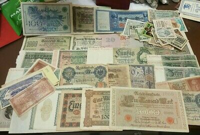 OLD GERMANY CURRENCY COLLECTION LOT***** 73 Notes