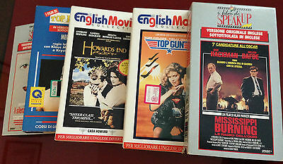 """Lotto 5 VHS """"The English Movie Collection"""", film in lingua inglese"""