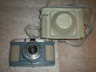 Vintage Bilora Bella 127mm Film camera. With Case Made In Germany