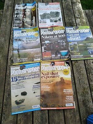 Amateur photography magazine Job Lot 7 Issues From 2017