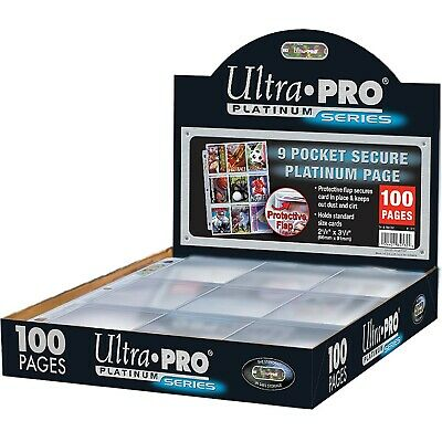 Ultra Pro 9-Pocket Trading Card A4 Sleeves Secure Platinum Series Pages 10 - 100