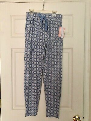 NWT Jaclyn Intimates Womens Pajama Pants Gray and Blue Size Small