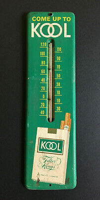 Vintage Kool Cigarette Thermometer. Works Great & Ready for Display!