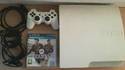 Sony Ps3 Playstation 3 Slim Bianca 320 Gb Completa Buono Stato
