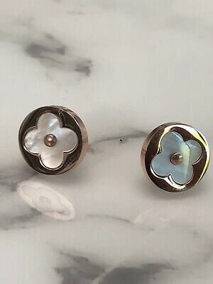 mother of pearl flower Blossom earrings Pink Gold Stainless Steel Hy