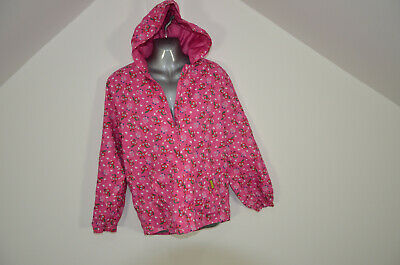 Moshi Monsters Raincoat Girls age 11-12 pink Hooded jacket pac a mac cagoule