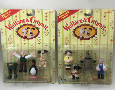 Wallace & Gromit IRWIN Collectible Figures 1989 NIB Rare 2 unopened packs