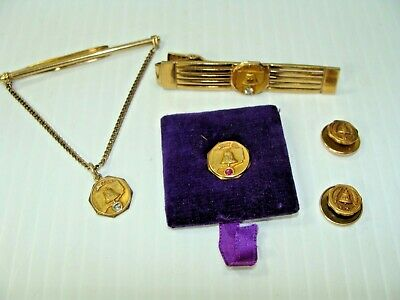 Vintage Telephone Co 10kt Gold Employee Pins and Tie Clasps