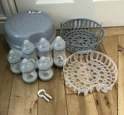 MAM microwave Steam Steriliser - Baby Bottles - Pacifier - Only Used A Few Time