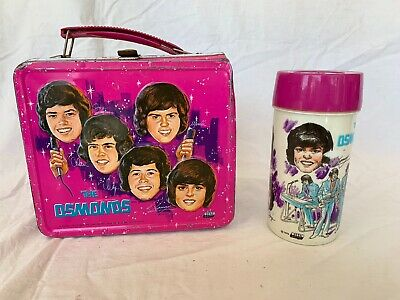 The Osmonds Lunchbox W/ Matching Thermos 1973