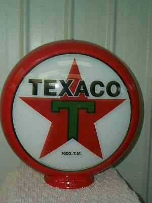 gas pump globe TEXACO reproduction 2 GLASS LENSES