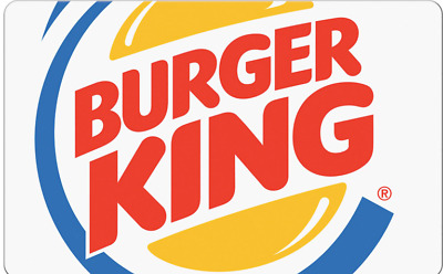 $100.00 Burger King eGift Voucher, Free Delivery, 3 Day No Reserve Auction