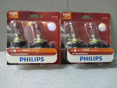 Two Pair of Philips 9006 XVB2 X-treme Vision 55W Headlight Headlamps 9006XVB2
